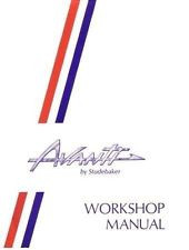 Avanti Shop Manual