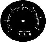 Tachometer Face Plate - Avanti & Avanti II - 6,000 RPM