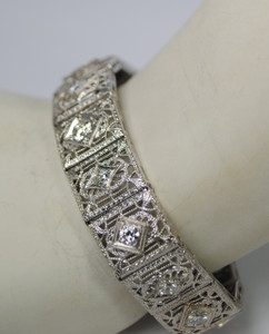 3.15 carat Filigree and Diamond Bracelet