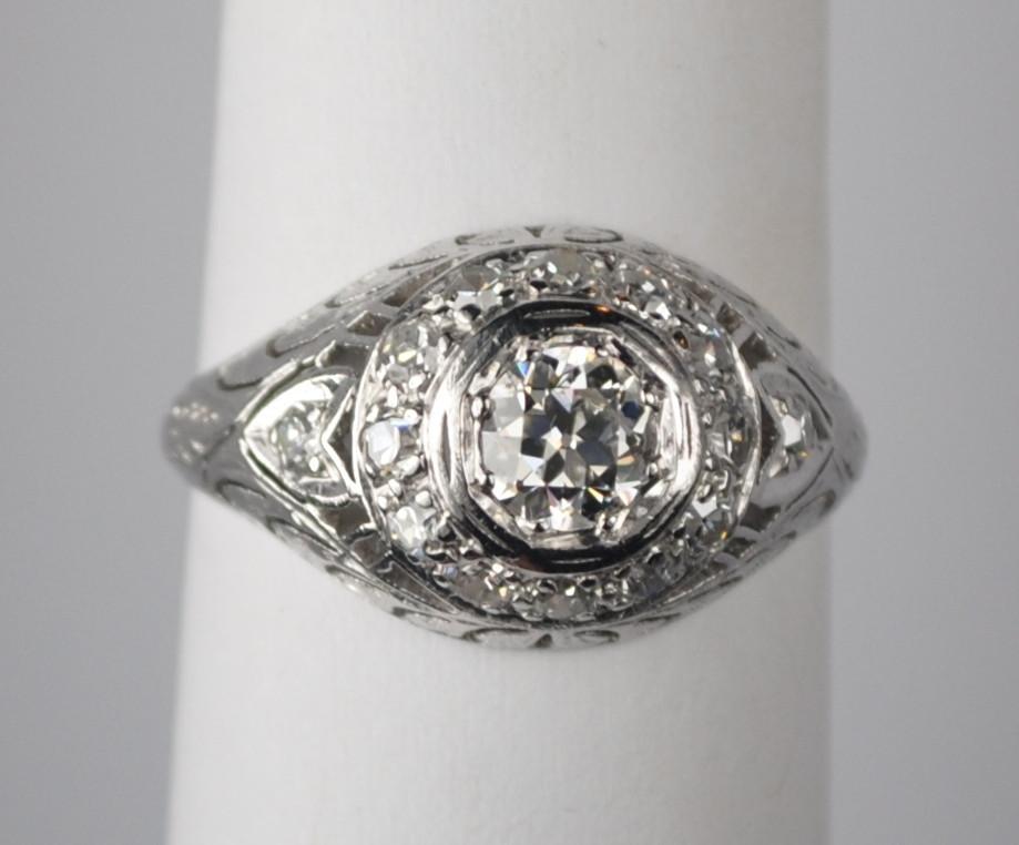 Wedding Ring On Sale.On Sale 50 Carat Platinum And Diamond Edwardian Engagement Ring