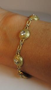 W. R. Designs Two Tone 18kt Diamond Bracelet 1.75ctw.