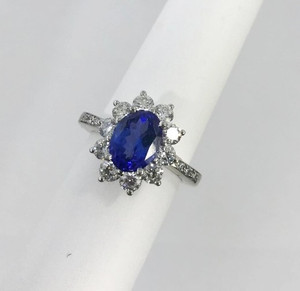 Tiffany & Co. Tanzanite Diamond Halo Ring