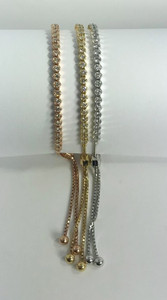 14K Rose, Yellow or White Gold Illusion-Set Diamond Toggle Bracelets Sold Separately