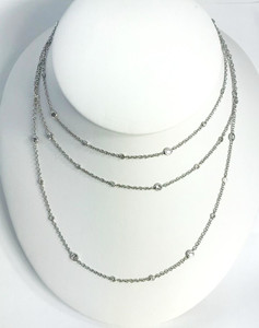 "52 inch ""Diamonds by the Yard"" Chain 18kt White Gold"