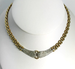 Modern 14kt Two-Tone Gold and Diamond Necklace 1.50ctw.