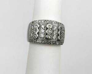 Estate Wide 14kt White Gold Diamond Band 2.0 Carats