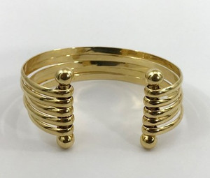 Wide Open Cuff 18kt Yellow Gold Estate