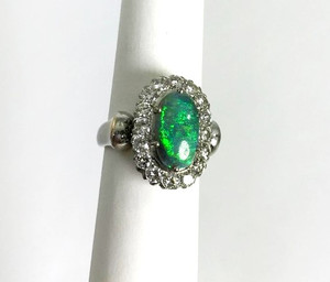 Estate 14kt 1.80 carat Opal and 1.60ctw. Diamond Ring
