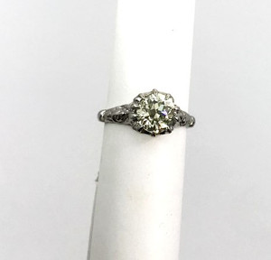 Best of Both Worlds 1.46ct Diamond Solitaire 18kt Engagement Ring