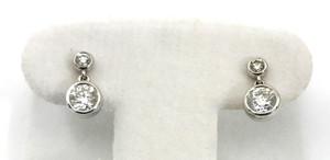 Modern 14kt White Gold Diamond Dangle Earrings 1.64ctw.