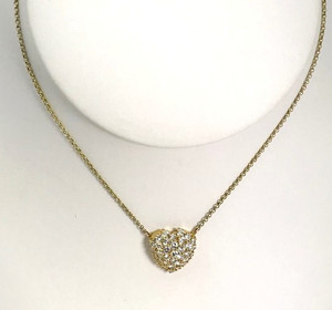 Estate 18kt Pavé Diamond Heart Pendant 1.65ctw