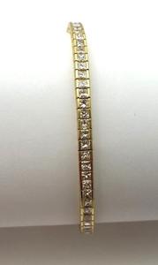 Estate 18K Flexible Diamond Line Tennis Bracelet 8.76ctw