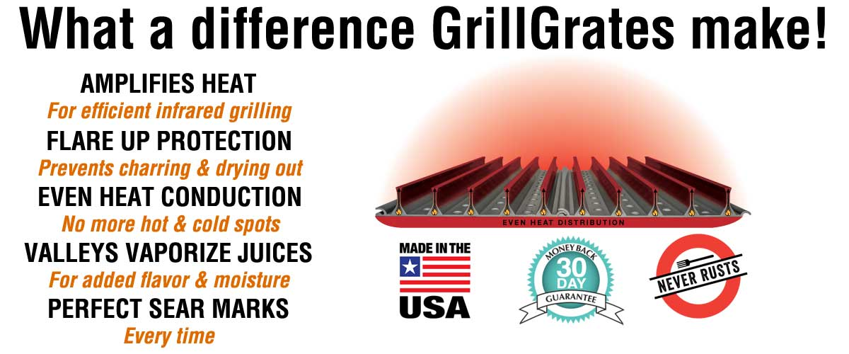What a difference GrillGrate makes!