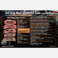 GrillGrate's Meat Temperature Guide Magnet- All Weather