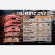 CLOSEOUT GrillGrate Steak Grilling Guide Magnet