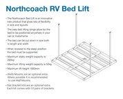 Northcoach Ceiling Mount Bedlift