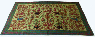 Elephant Design Embroidered Indian Wall Hanging