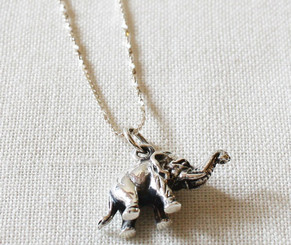 Silver Necklace & Silver Elephant Pendant