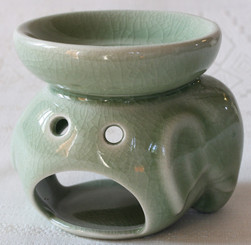Ceramic Celadon Elephant Oil Burner