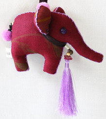 Decorative Fabric Elephant Made by Hand