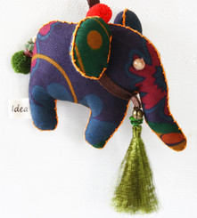 Decorative Hand Made from Fabric Elephant