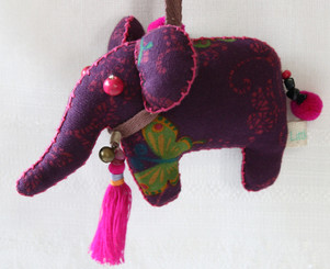 Decorative Hand Made Fabric Elephant