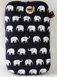 Cotton Mobile Phone Pouch with Elephant Design