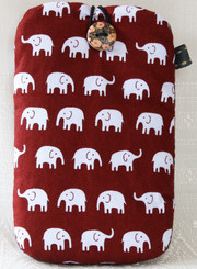 Mobile Phone Pouch made from Cotton Fabric