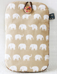 Elephant Mobile Phone Pouch made from Cotton