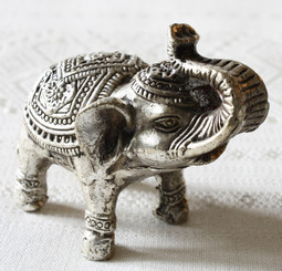 Ornamental Silver Plated Bronze Elephant, Laos