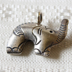 Hill Tribe Silver Elephant Pendant