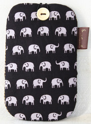 Elephant Design Cotton Mobile Phone Pouch