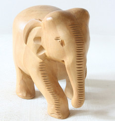 Wood Carving of Elephant, India