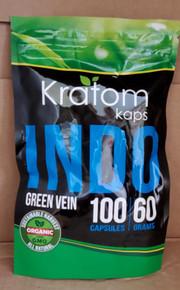(4 Bags) Kratom Kaps Indo 100 Count Cap