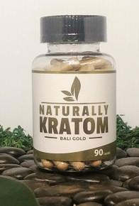Naturally Kratom Bali Gold - 90 Count Capsule (Any Strain)