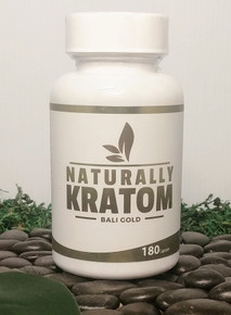 Naturally Kratom Bali Gold - 180 Count Capsule (Any Strain)