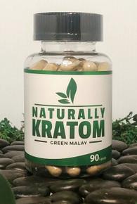Naturally Kratom Green Malay - 90 Count Capsule (Any Strain)