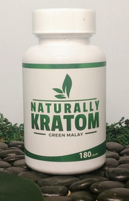 Naturally Kratom Green Malay - 180 Count Capsule (Any Strain)