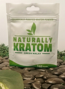 Naturally Kratom Green Malay - 1 OZ Bag (Any Strain)