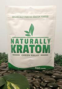Naturally Kratom Green Malay - 4 OZ Bag (Any Strain)