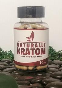 Naturally Kratom Red Bali - 90 Count Capsule (Any Strain)
