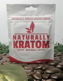 Naturally Kratom Red Bali - 1 OZ Bag (Any Strain)