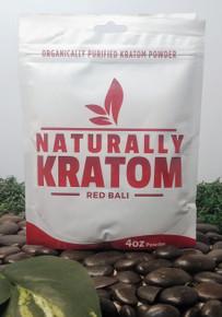 Naturally Kratom Red Bali - 4 OZ Bag (Any Strain)