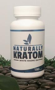 Naturally Kratom White Maeng Da - 180 Count Capsule (Any Strain)