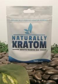 Naturally Kratom White Maeng Da - 1 OZ Bag (Any Strain)