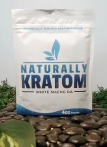 Naturally Kratom White Maeng Da - 4 OZ Bag (Any Strain)
