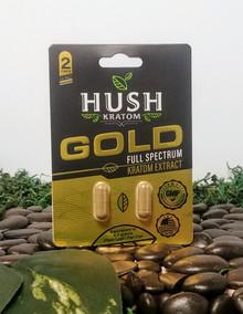 Hush kratom Gold Capsules 2ct