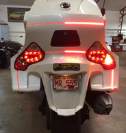 Can-Am Spyder RT BRT Rear Lighting Kit, 4 Sections, BRAKE/RUN/TURN with BRAKE STROBE Function(FITS ALL RT MODELS) Plug -N- Play.