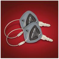 Grey Spyder Key Cover (Pair) (SC-41-182E) Lamonster Approved Fits ALL Can-Am Spyder Keys