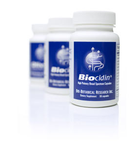 Biocidin, Broad-Spectrum Botanical Combination which addresses the G.I tract and supports a healthy and balanced intestinal ecology